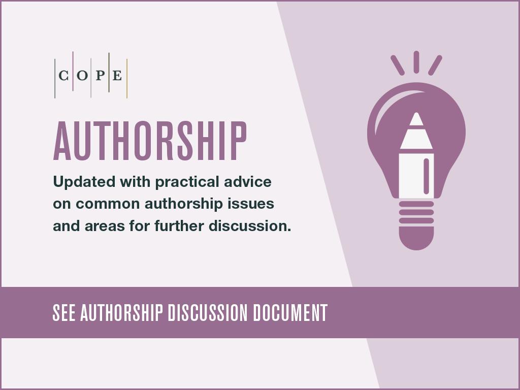 Authorship discussion document