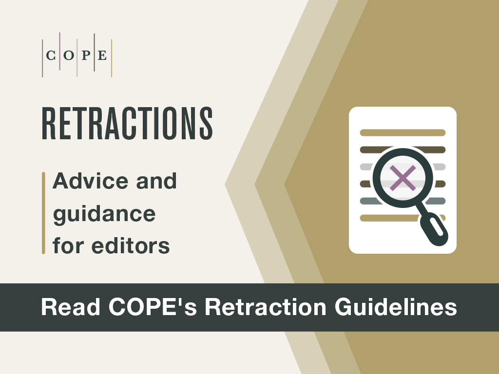 COPE's guidelines to retracting articles